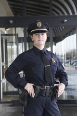 Portrait of a female police sergeant.