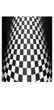 Checker Cone Abstract Background - vector illustration