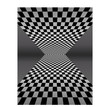 Checker board pattern in perspective - vector illustration