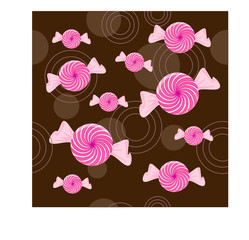 peppermint candy seamless background - vector illustration