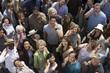 Crowd using mobile phones