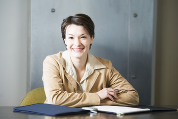 Portrait of a business woman smiling.