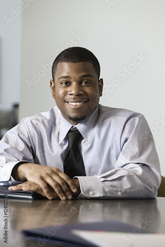 Portrait of a business man smiling.