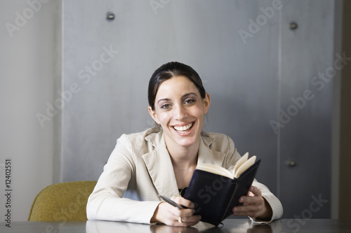 Portrait of a business woman smiling.