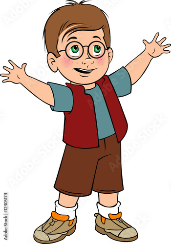 toddler boy with glasses