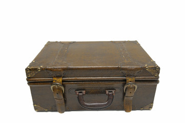 Old case isolated against a white background