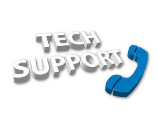 Tech Support (3D - with telephone)