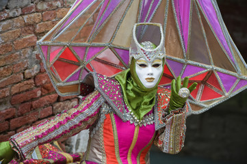 Carnival woman in colours