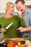 Man Gets Poked in Eye Stealing Bite of Dinner Being Prepared poster