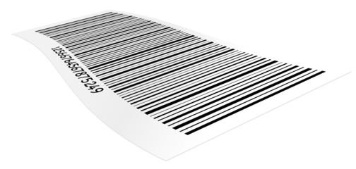 étiquette code barre vectoriel sur fond blanc