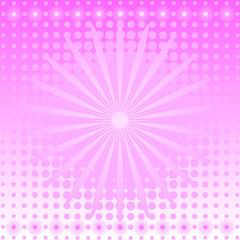 Gentle pink abstract background with a flower (vector)