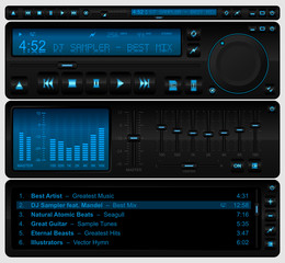 Complete multimedia player interface