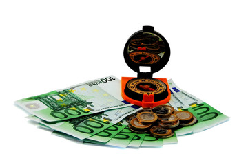 concept of financial success - money in the work!