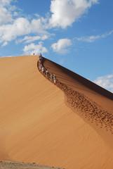 Dünenklettern in Namibia/Dune hiking