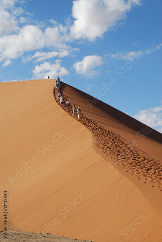 Dünenklettern in Namibia/Dune hiking