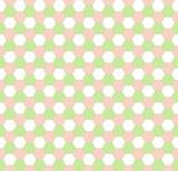 Spring hexagonal seamless pattern poster
