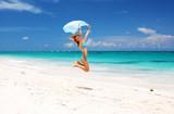 Jump with sarong poster