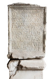Engraved stone in Coliseum poster