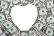 Dollar Bill Heart Border