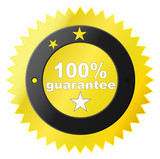 vector label for satisfaction guaranteed poster