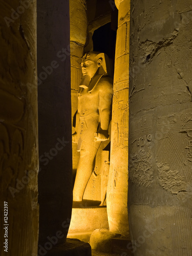 Ramses' colossus at Luxor temple, Thebes