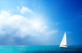 sailboat sky and ocean poster