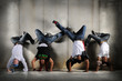 Hip Hop Men on Handstand