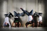 Hip Hop Men on Handstand