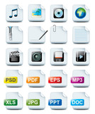 Fototapety file icons