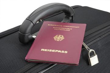 Reise Pass Reisepass Dokument Koffer