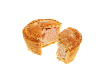 Cut pork pie