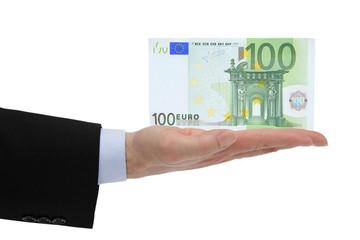 100 Euro auf die Hand
