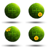 Grass planets with car transmission gear handles poster