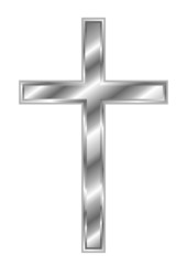 Christian Cross - Silver