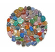 Circle of tumbled crystal stones