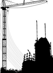 constraction and crane vector