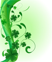 abstract saint patrick's day illustration