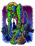 zombie illustration poster