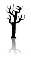 Silhouette of a tree - Vector image