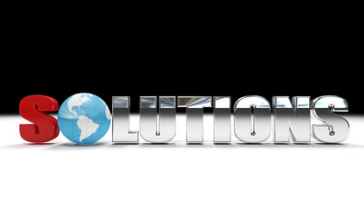 concept of global solutions - digital artwork isolated