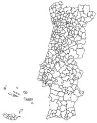 hi detailed map of portugal with all districts