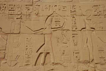 dessins et hiéroglyphes