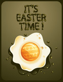 Easter egg - greeting card - vector