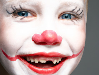 red nose and smile