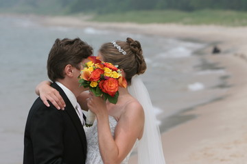 bride and groom hair tiara flower up do style