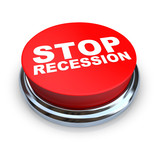 Stop Recession - Button poster