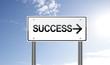 Success Signpost on Sky