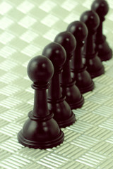 Row of black pawns
