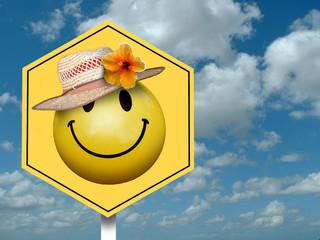 Smiley in Hat in Heaven