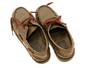 Worn boys shoes